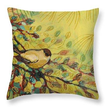 Goldfinch Waiting Throw Pillow