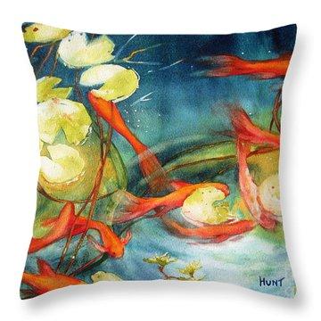 Goldfish Pond Throw Pillow