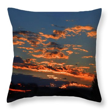 Throw Pillow featuring the photograph Goldflake Sunset by Mark Blauhoefer