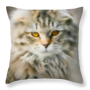 Goldie Golden Eyes Throw Pillow