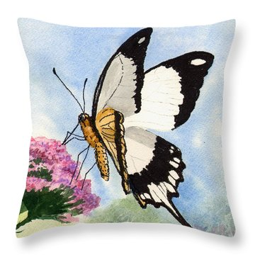 Throw Pillow featuring the painting Goldie by Sam Sidders