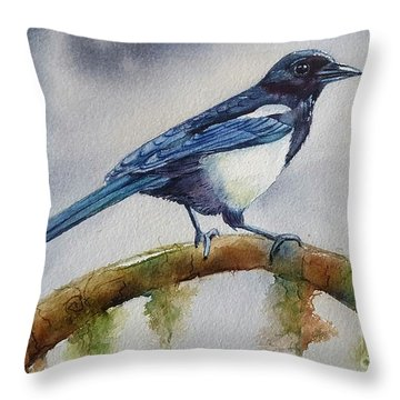 Goldigger Throw Pillow by Patricia Pushaw