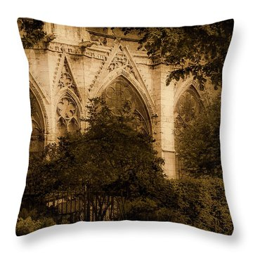 Paris, France - Goldoni In The Park Throw Pillow