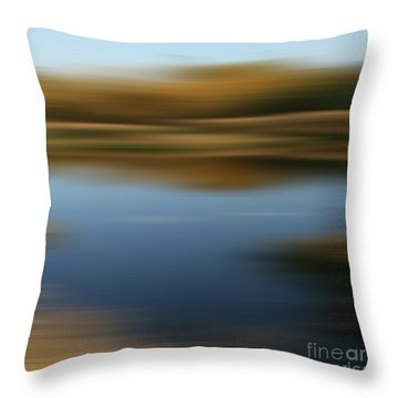 Goldstream Throw Pillow by Sharon Mau