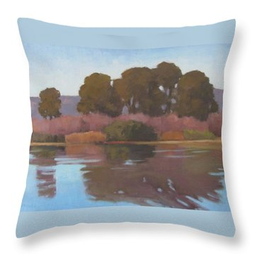 Goleta Beach Slough Throw Pillow by Jennifer Boswell