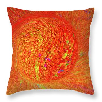 Golf Ball Star 3 Throw Pillow by Bruce Iorio