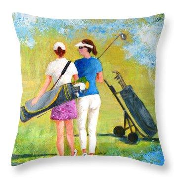 Golf Buddies #1 Throw Pillow