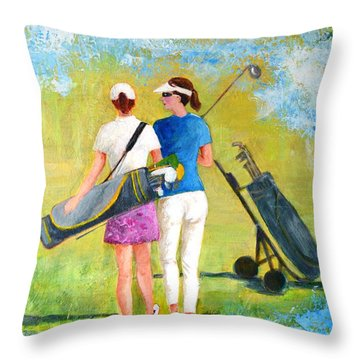 Golf Buddies #1 Throw Pillow