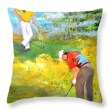 Golf Buddies #2 Throw Pillow