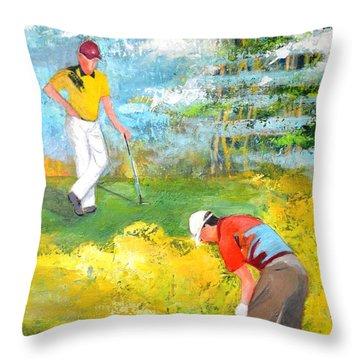 Golf Buddies #2 Throw Pillow