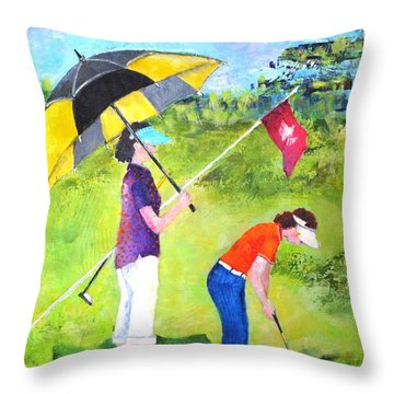Golf Buddies #3 Throw Pillow