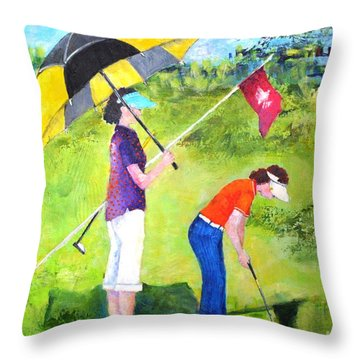 Golf Buddies #3 Throw Pillow