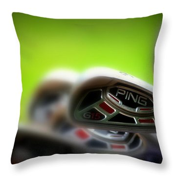 Golf Clubs 2 Throw Pillow