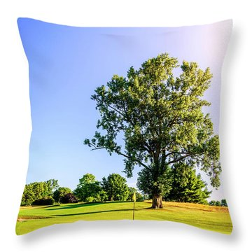 Throw Pillow featuring the photograph Golf Course by Alexey Stiop