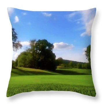 Golf Course Landscape Throw Pillow