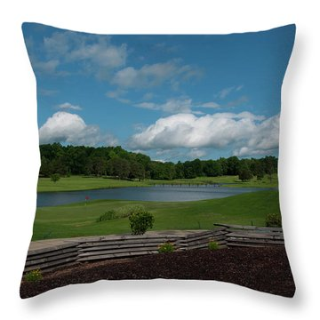 Golf Course The Back 9 Throw Pillow by Chris Flees