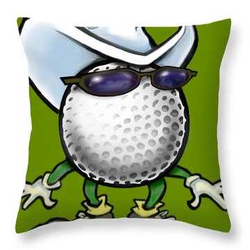 Throw Pillow featuring the digital art Golf Cowboy by Kevin Middleton