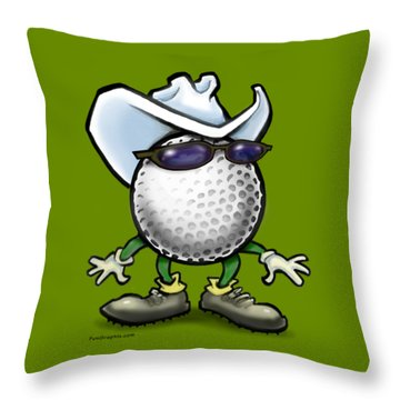 Golf Cowboy Throw Pillow