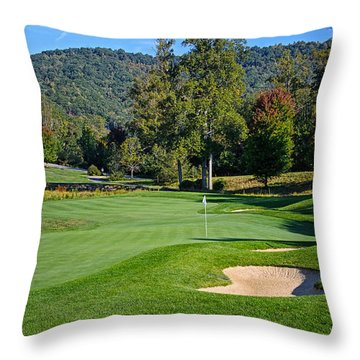 Early Autumn Golf Throw Pillow
