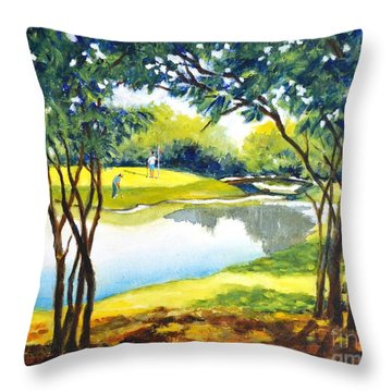Golf Haven Throw Pillow