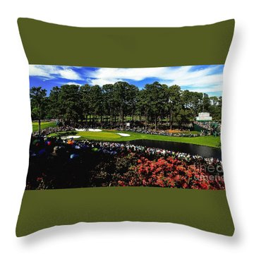 Golf Masters Throw Pillow