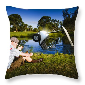 Throw Pillow featuring the photograph Golf Problem by Jorgo Photography - Wall Art Gallery