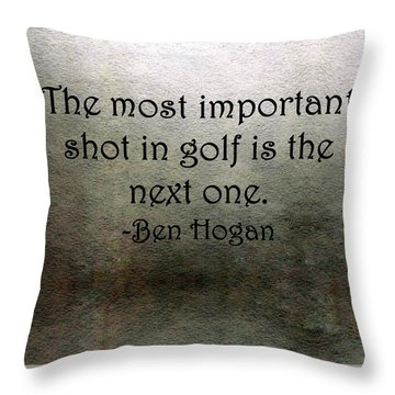 Golf Quote Throw Pillow