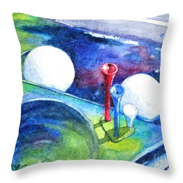 Golf Series - Back Safely Throw Pillow