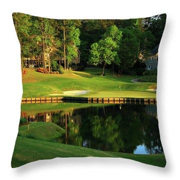Golf The Landing #3 Reynolds Plantation Lake Oconee Ga Art Throw Pillow