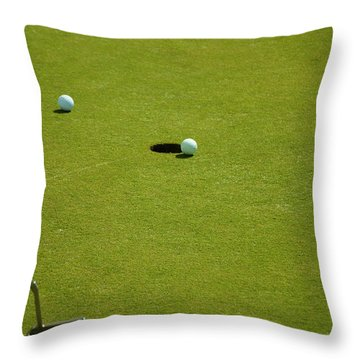 Golf - The Longest Inch Throw Pillow by Chris Flees