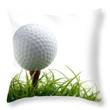 Golfball Throw Pillow by Kati Molin