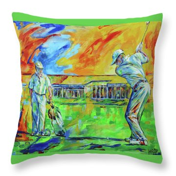 Golfclub Mettmann Throw Pillow by Koro Arandia