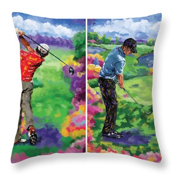 Ernie Els Throw Pillows