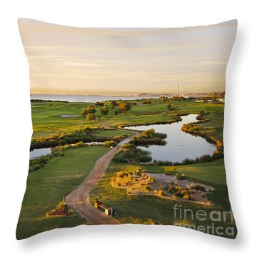 Golfing At The Gong II Throw Pillow