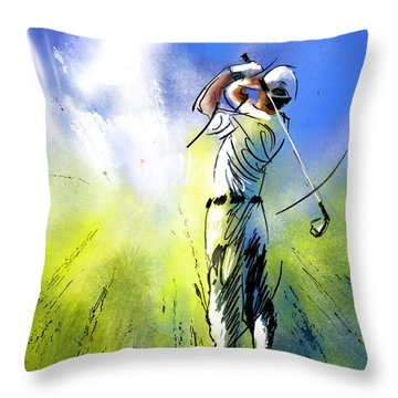 Golfscape 01 Throw Pillow