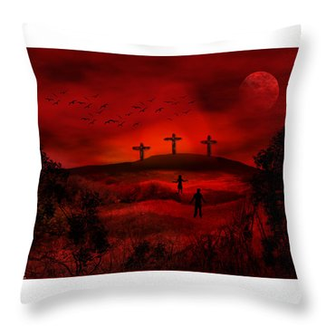 Golgotha Throw Pillow by Bernd Hau