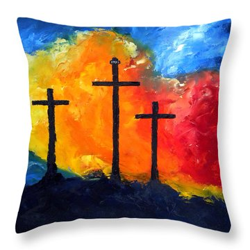Golgotha Throw Pillow by David McGhee