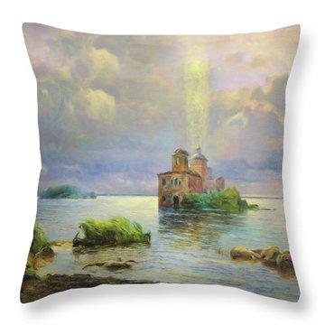 Golgotha Fantasy Impressionism Throw Pillow