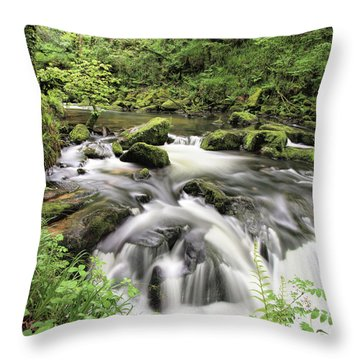 Golitha Falls Throw Pillow