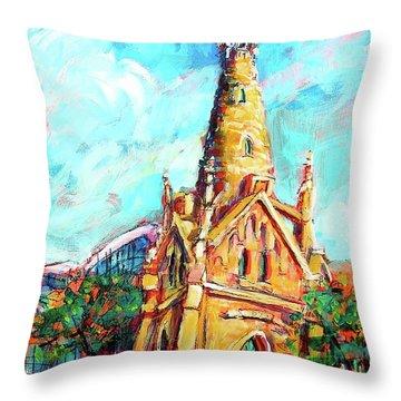 Gombert's Tower Throw Pillow
