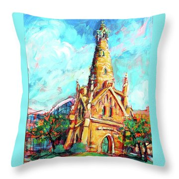 Gombert's Tower Throw Pillow