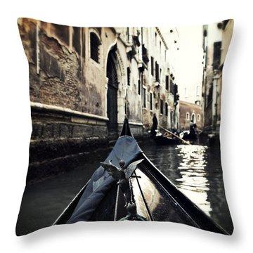 gondola - Venice Throw Pillow by Joana Kruse