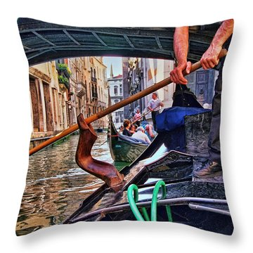 Throw Pillow featuring the photograph Gondola 2 by Allen Beatty
