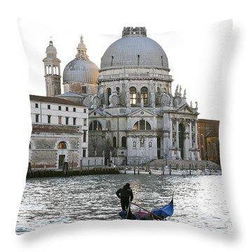 Gondola Alla Salute Throw Pillow