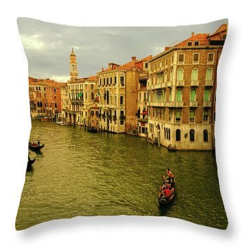 Throw Pillow featuring the photograph Gondola Life by Anne Kotan