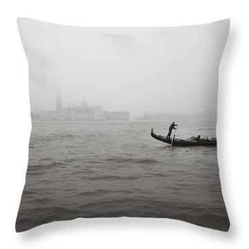 Gondola Nella Nebbia 193042x Throw Pillow