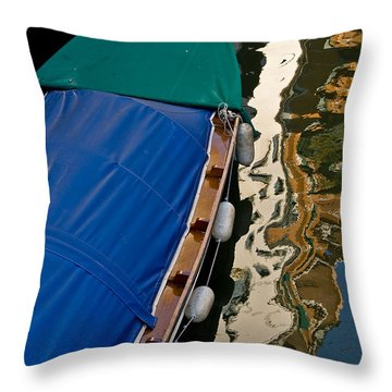 Gondola Reflection Throw Pillow