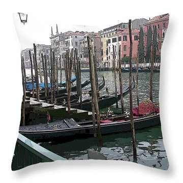 Gondolas Throw Pillow