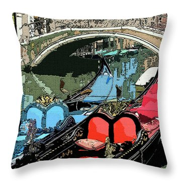 Gondolas Fresco  Throw Pillow