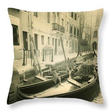 Gondolas Throw Pillow by Joana Kruse
